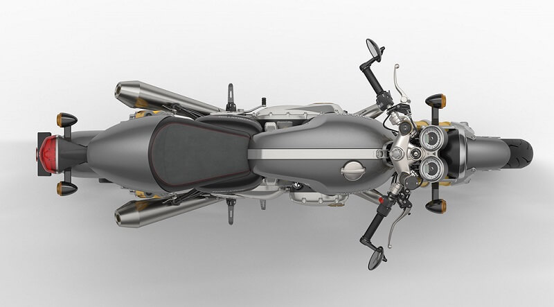 New Triumph Thruxton R 2016 top view