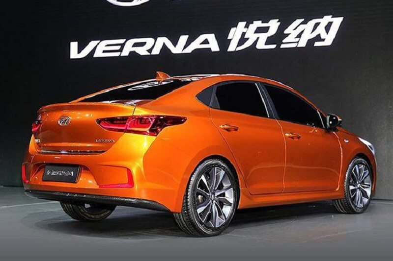 2017 Hyundai Verna rear side