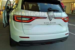 2017 Renault Koleos India spied rear