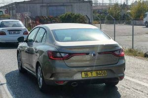 2017 Renault Megane Sedan India spied rear