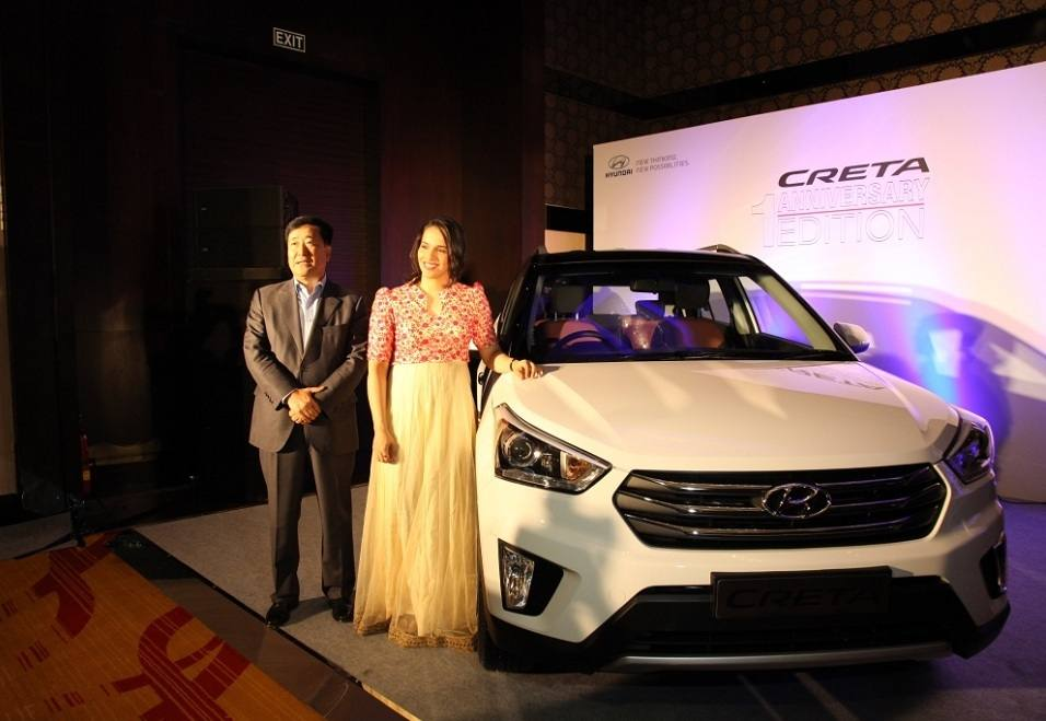 Hyundai Creta Anniversary Edition with Saina Nehwal