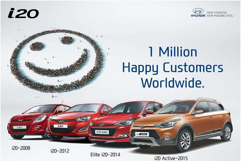 Hyundai i20 1 million sales worldwide