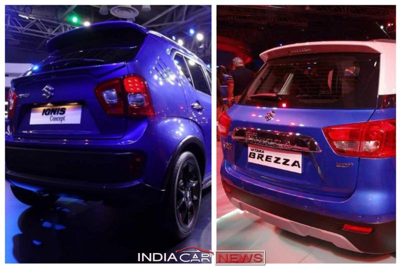 Maruti Ignis Vs Vitara Brezza comparison
