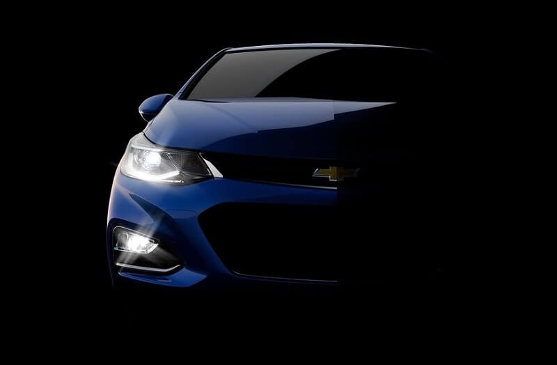 New Chevrolet Cruze 2017 India front view