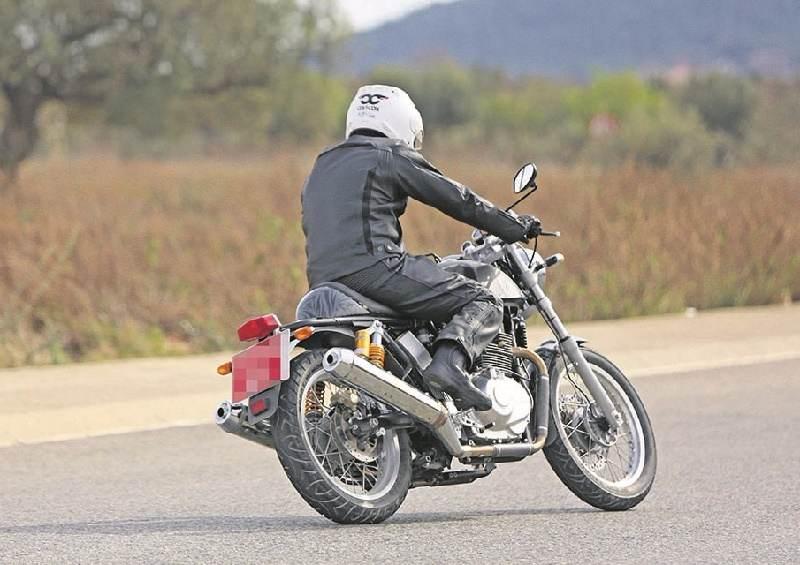 Royal Enfield 750cc bike rear