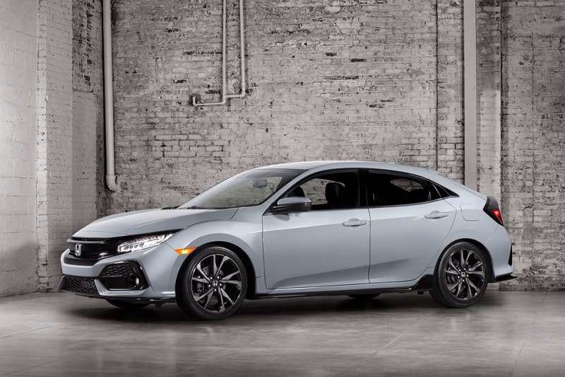 2017 Honda Civic hatchback side profile