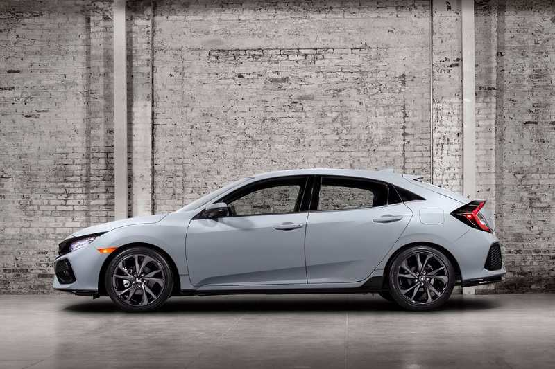 2017 Honda Civic hatchback side view