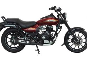 Bajaj Avenger Street 150 Cosmic Red side view