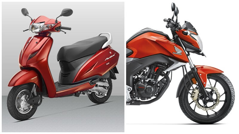 Honda Two Wheeler July 2016 sales