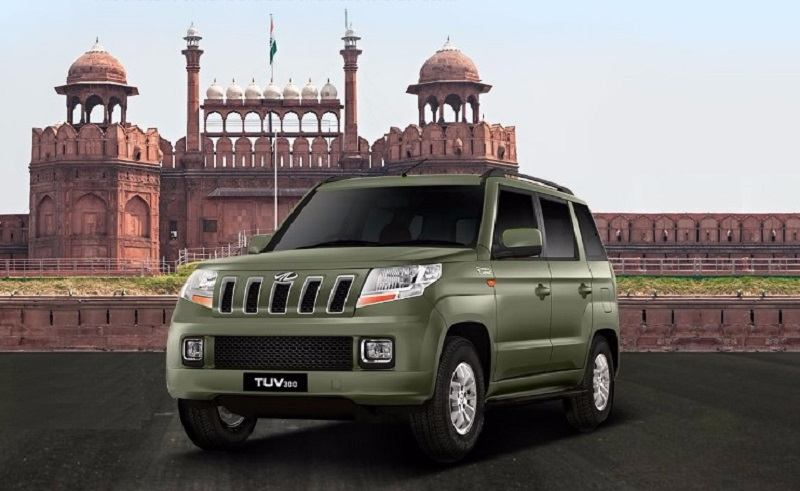 Mahindra TUV300 Bronze Green Color