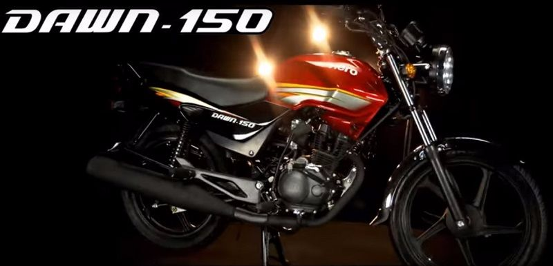 New Hero Dawn 150 bike