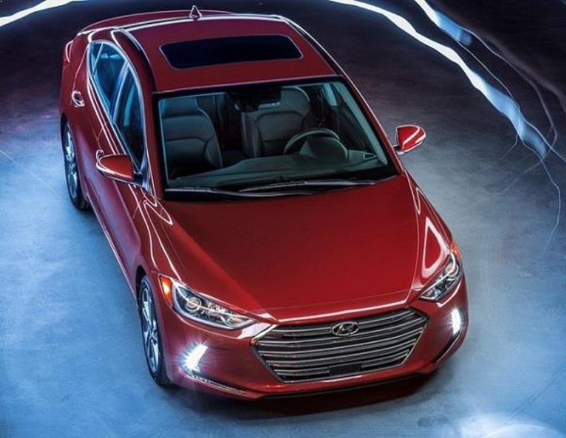 New Hyundai Elantra From Top