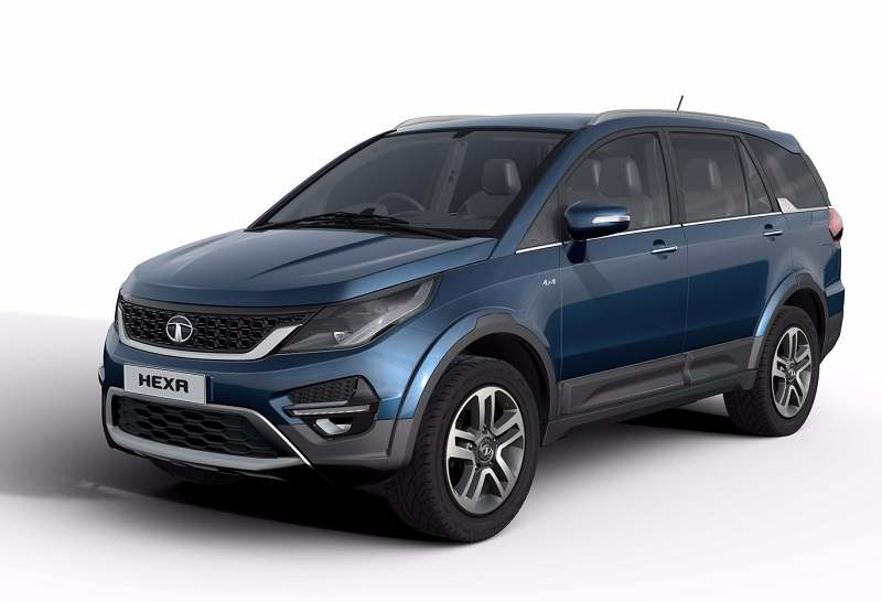 Tata Hexa 7 seater front-side angle