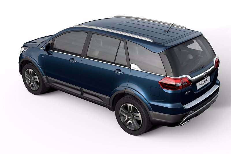 Tata Hexa 7 seater rear-side angle