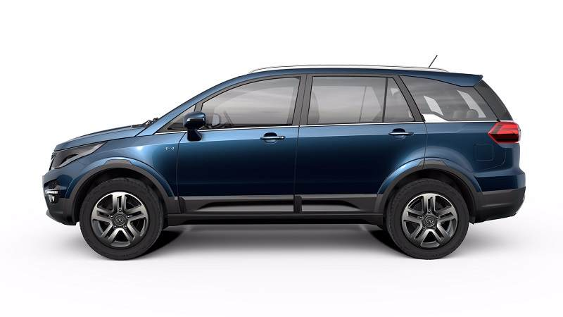 Tata Hexa 7 seater SUV side profile