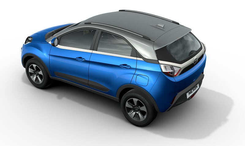 2017 Tata Nexon SUV top angle