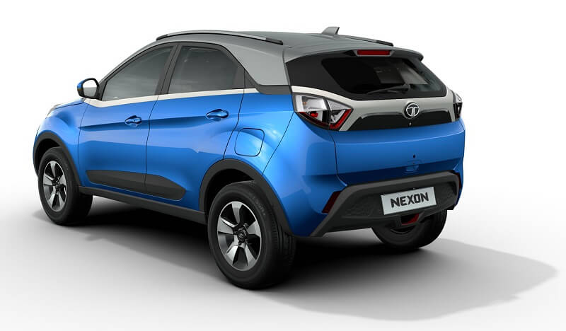 2017 Tata Nexon SUV rear three quarter