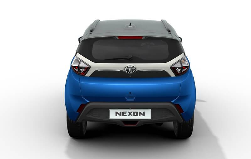 2017 Tata Nexon SUV rear view