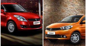Tata Tiago vs Maruti Swift comparison