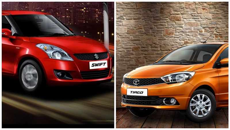 Tata Tiago vs Maruti Swift comparison