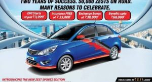 Tata Zest Sportz Edition Launched