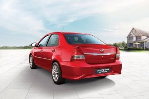Toyota Etios Platinum Rear Red
