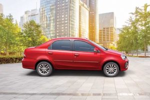 Toyota Etios Platinum Red Side
