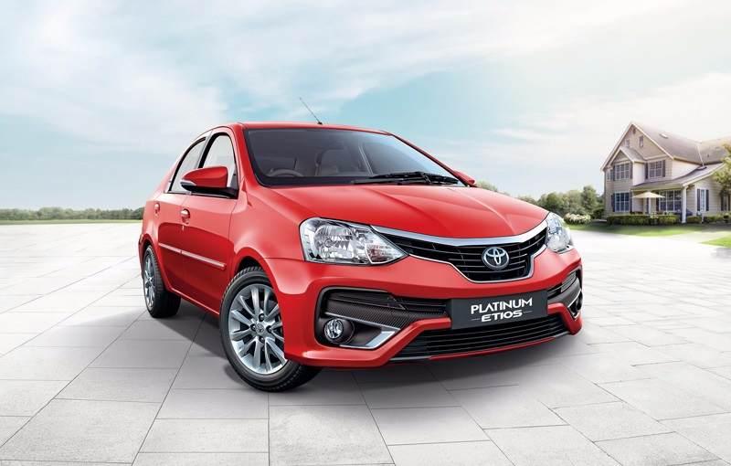 Toyota Etios Platinum Red Front
