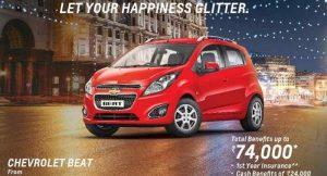 2016 Diwali Discounts & Benefits on Chevrolet Cars