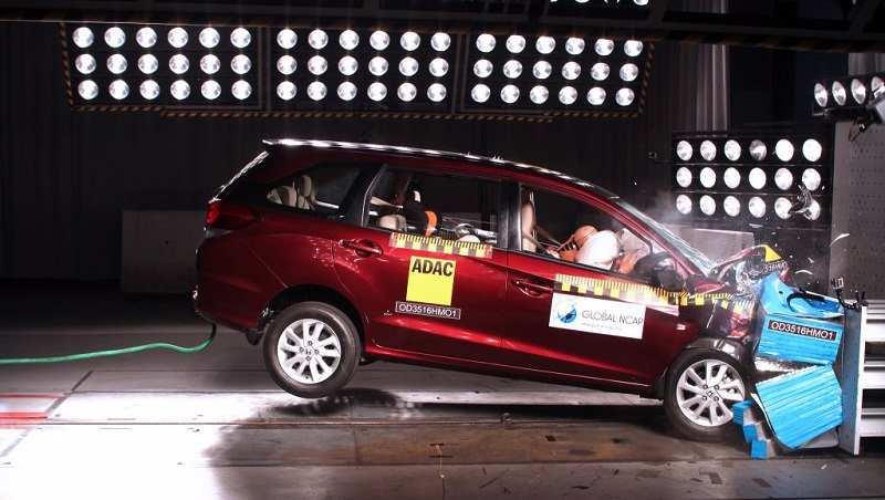 Honda Mobilio Global NCAP Crash Test