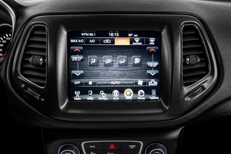 New Jeep Compass Infotainment system