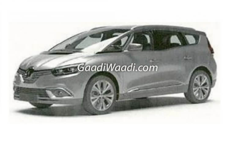 New Renault MPV Patent for India