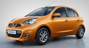 Nissan Micra Orange colour