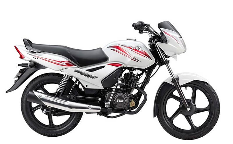 TVS Star City+ Sportlight White