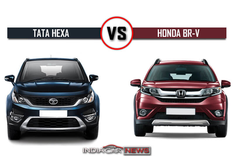 Tata Hexa Vs Honda Brv Specifications Comparison