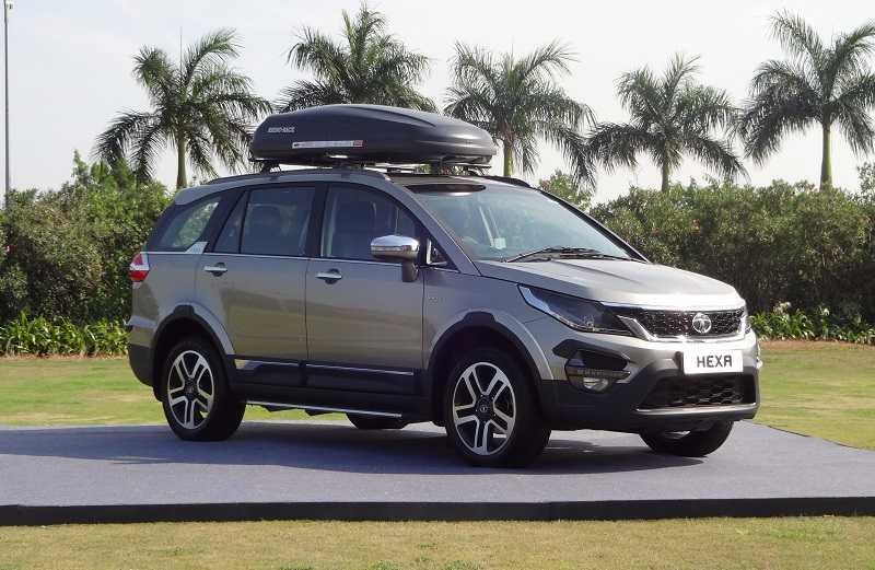 Tata Hexa Tuff Front three Quarter