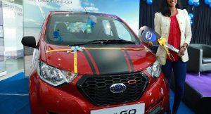 Datsun redi GO PV Sindhu