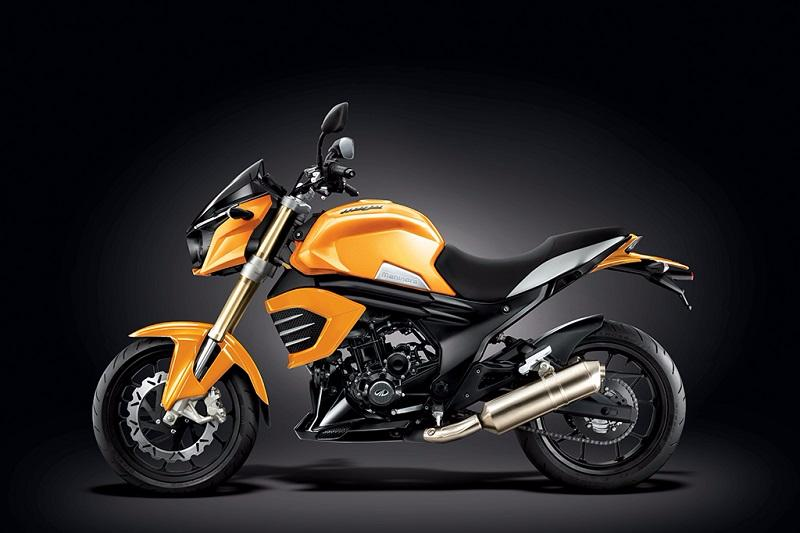 Mahindra Mojo Sunburst Yellow matte model