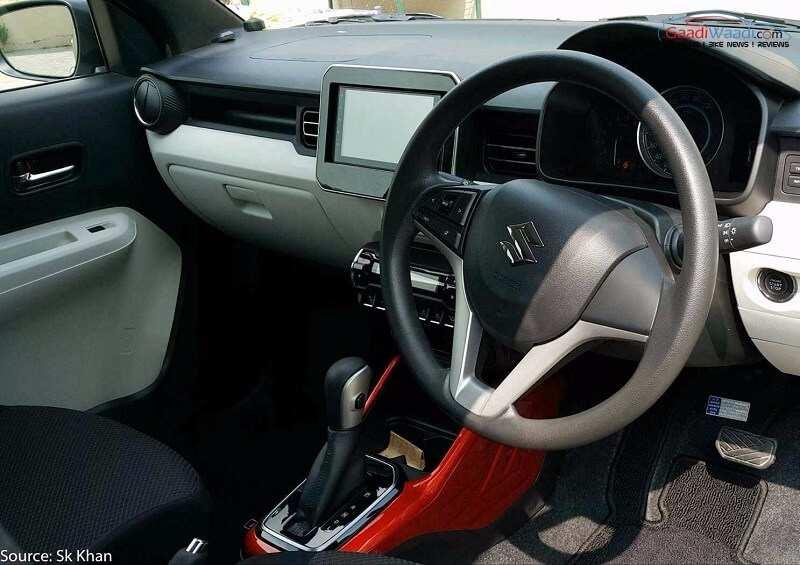 maruti ignis hybrid interior