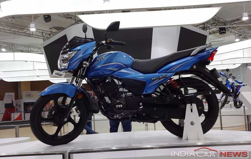 New TVS Victor 2016 side profile