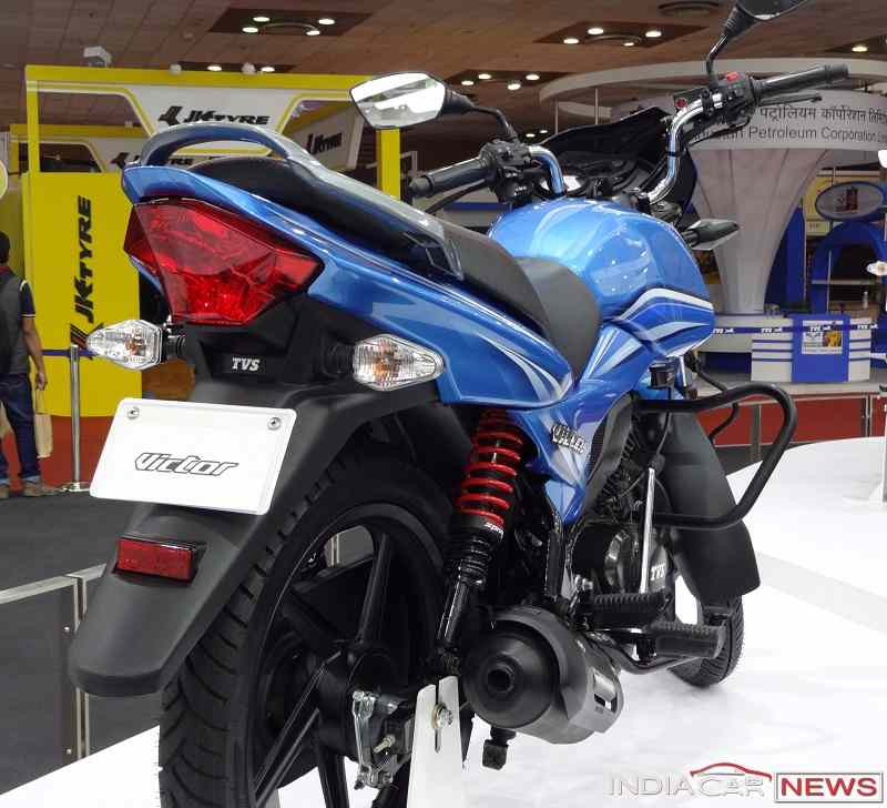 New TVS Victor 2016 rear