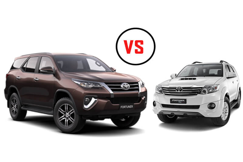 New Toyota Fortuner vs Old Fortuner models
