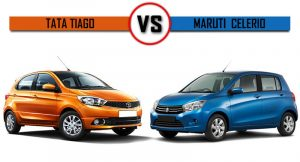 Tata Tiago vs Maruti Celerio comparison report