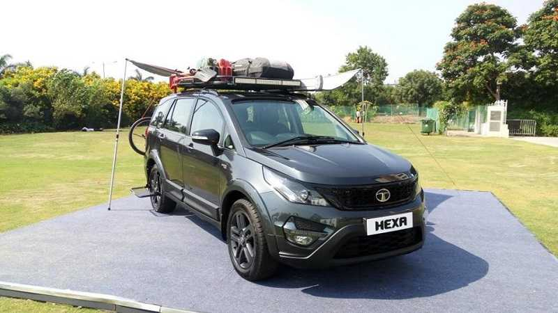 Tata Hexa Tuff Top View