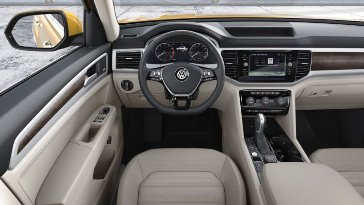 Volkswagen Atlas 7 Seater SUV Interior