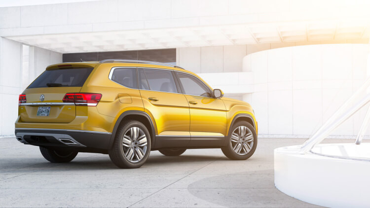 Volkswagen Atlas 7 Seater SUV Rear Side