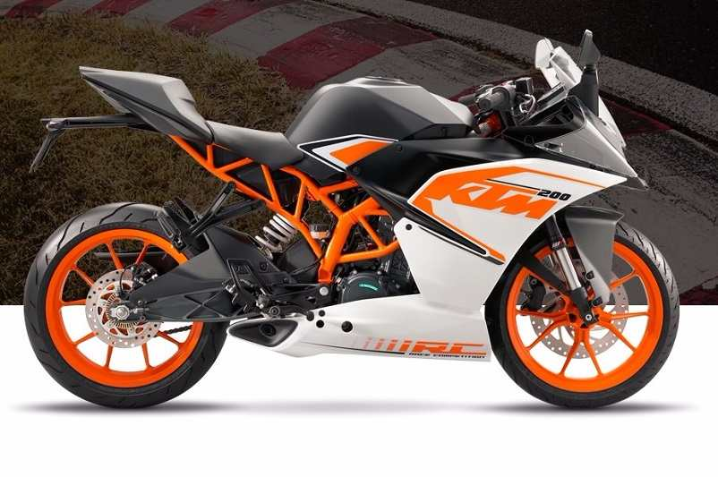 2017 ktm rc 200 price in india, specifications & mileage