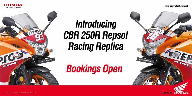 Honda CBR 250R Repsol Edition Bookings Open