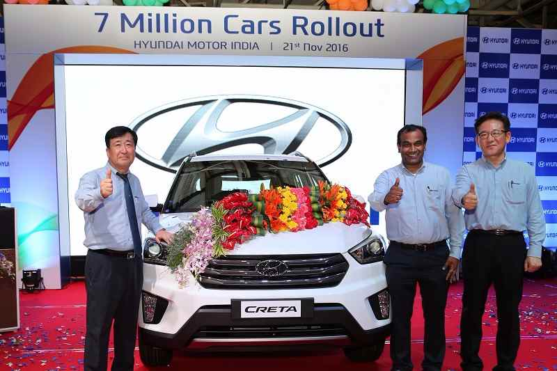 Hyundai India Seven Millionth Car