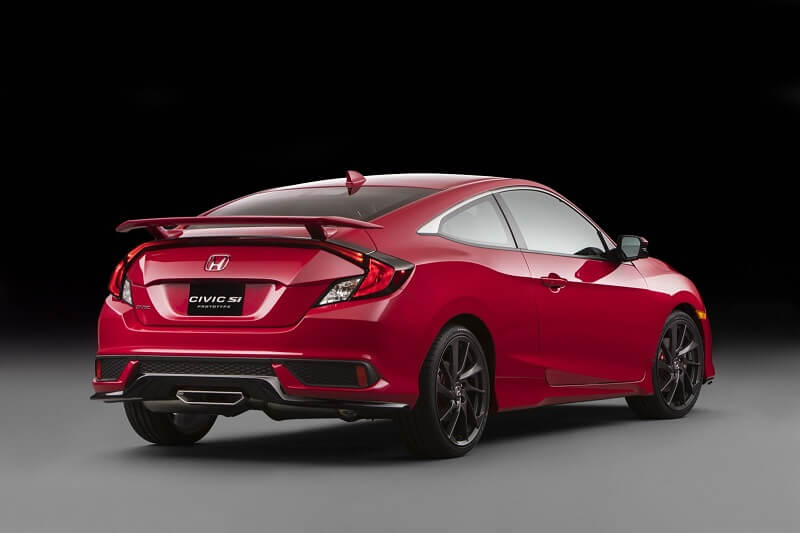 New Honda Civic Si Rear Three Quarter